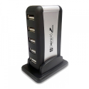USB 7 lizdų išorinis šakotuvas + AC adapteris
