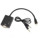 Micro HDMI į VGA su audio jungtimi
