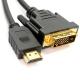 HDMI į DVI-D 24 kabelis