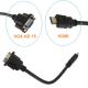 HDMI male į VGA HD - 15 female video jungtis