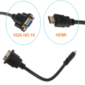 HDMI male į VGA HD - 15 female video jungtis