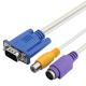 VGA D-Sub SVideo RCA kabelis