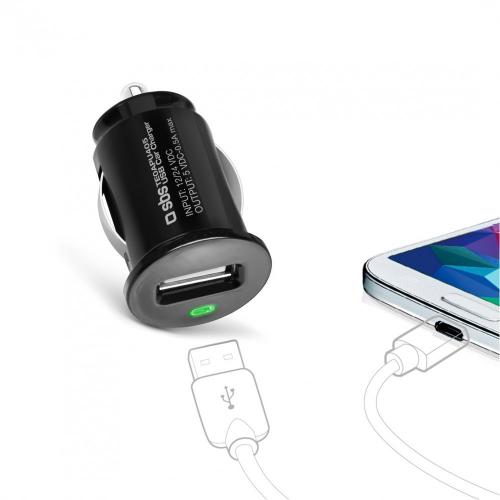 USB Mini 12-24 V įkroviklis
