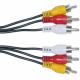 RCA sudėtimis garso, vaizdo AV kabelis
